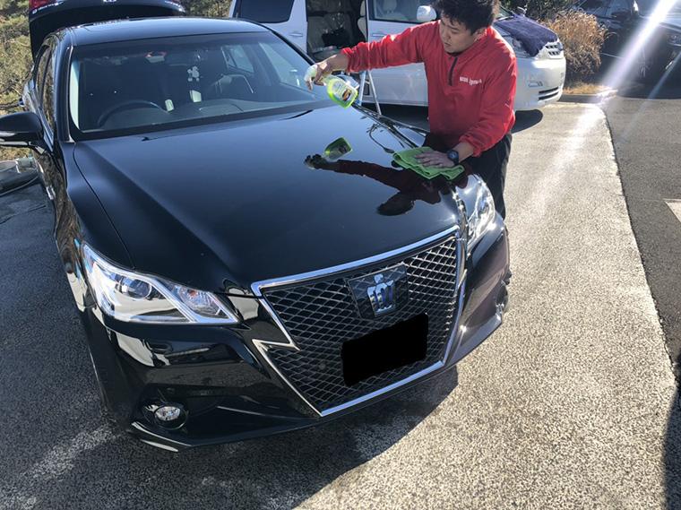 出張洗車の作業工程3
